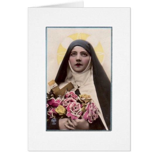 St. Therese die kleine Blume Grußkarte