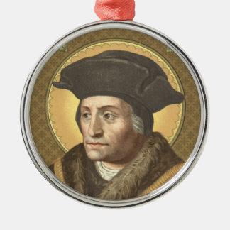 St Thomas erstklassiges Rundschreiben mehr (SAU Rundes Silberfarbenes Ornament