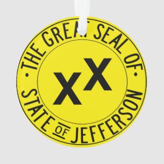 Staat der Jefferson-Weihnachtsbaum-Verzierung Ornament