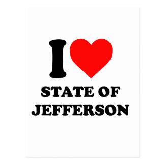 Staat der Liebe I von Jefferson Postkarte