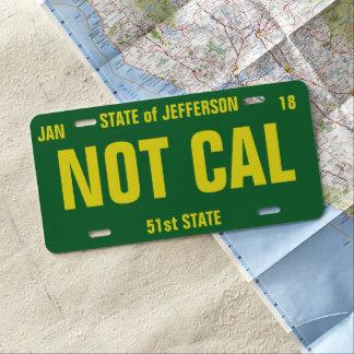 Staat der personalisierten Lizenz-Platte US Nummernschild
