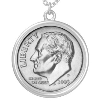 Staat-Groschen-Geldhalskette Halskette Mit Rundem Anhänger
