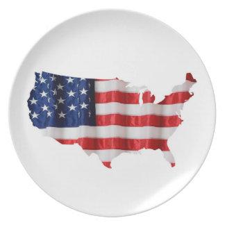 Staat-Melamin-Platte Teller