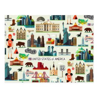 Staat-Symbol-Muster Postkarte