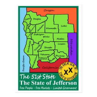 Staat von Jefferson Postkarte
