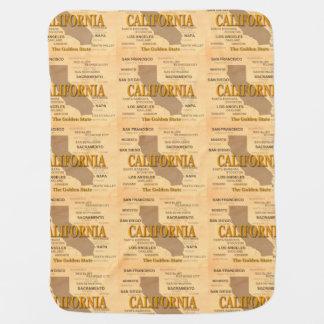 Staat von Kalifornien-Karte, Los Angeles, Babydecke
