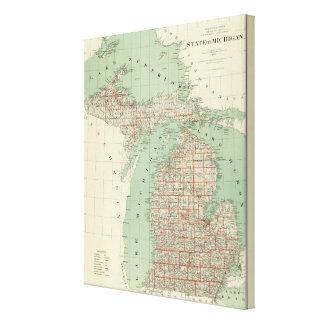 Staat von Michigan Gespannte Galerie Drucke