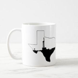 Staat von Texas und von Erdölbohrungs-Anlage Tasse