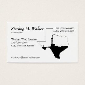 Staat von Texas und von Erdölbohrungs-Anlage Visitenkarte