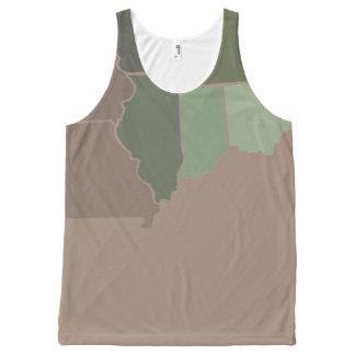 Staats-Camouflage Komplett Bedrucktes Tanktop
