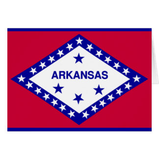 Staats-Flagge von Arkansas Karte