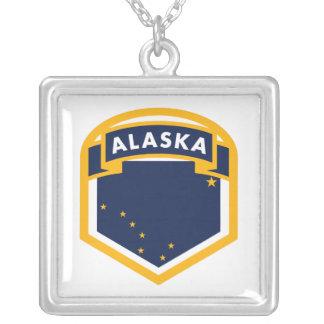 Staats-Flaggen-Schild Alaskas AK Versilberte Kette