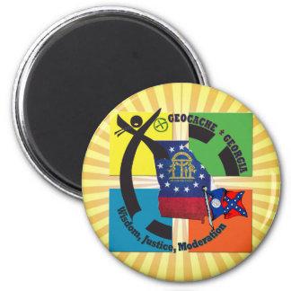 STAATS-GEORGIA-MOTTO RUNDER MAGNET 5,1 CM
