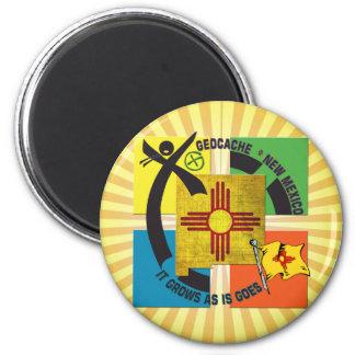 STAATS-NEW-MEXIKO MOTTO GEOCACHER RUNDER MAGNET 5,7 CM