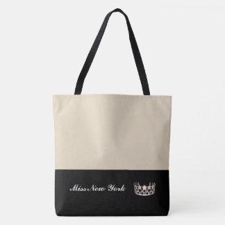 Staats-Silber-Kronen-Taschen-Tasche-Große Beige Tasche