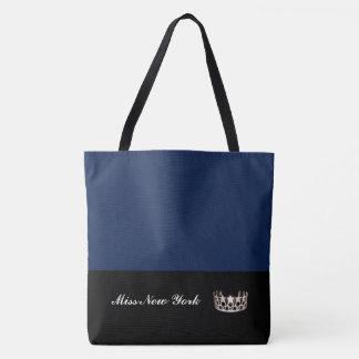 Staats-Silber-Kronen-Taschen-Tasche-Große Marine Tasche