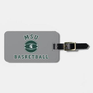Staats-Universität 4 MSU Basketball-| Michigan Gepäckanhänger