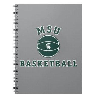 Staats-Universität 4 MSU Basketball-| Michigan Spiral Notizblock