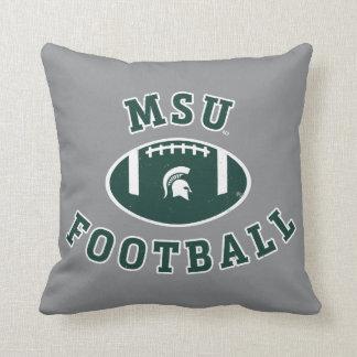 Staats-Universität 4 MSU Fußball-| Michigan Kissen