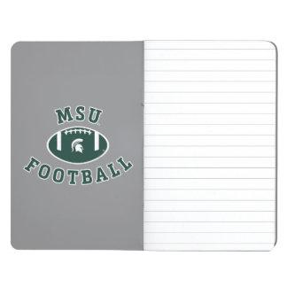 Staats-Universität 4 MSU Fußball-| Michigan Taschennotizbuch