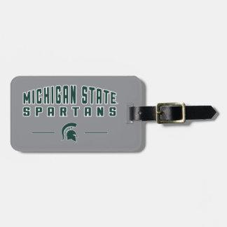 Staats-Universität 4 MSU Wimpel-| Michigan Gepäckanhänger