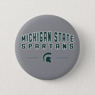Staats-Universität 4 MSU Wimpel-| Michigan Runder Button 5,7 Cm