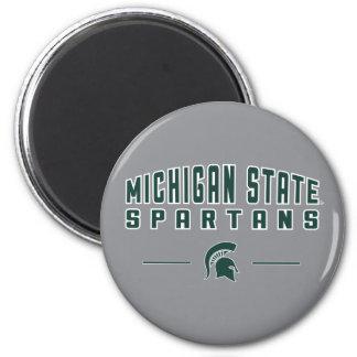 Staats-Universität 4 MSU Wimpel-| Michigan Runder Magnet 5,7 Cm