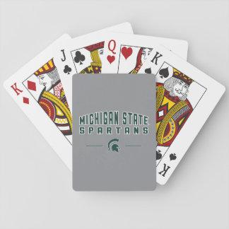 Staats-Universität 4 MSU Wimpel-| Michigan Spielkarten