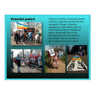 Staatsbürgerschaft, Sozialstudien, friedlicher Pro Postkarten