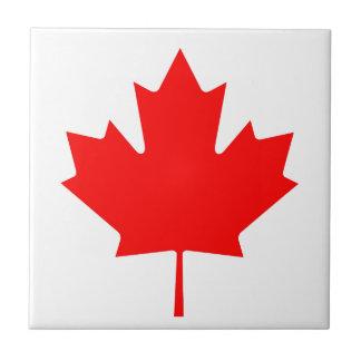 Staatsflagge von Kanada - Drapeau DU Kanada Kleine Quadratische Fliese