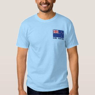Staatsflagge von Neuseeland - Kiwi-Nation Besticktes T-Shirt
