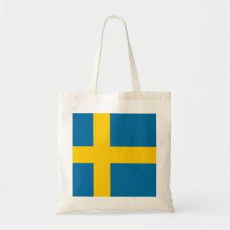 Staatsflagge von Schweden Budget Stoffbeutel
