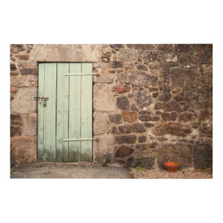 Stabile Tür-und Steinwand-hölzerne Wand-Kunst Holzwanddeko
