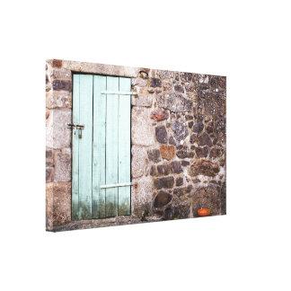 Stabile Tür-und Steinwand-Leinwand-Druck Leinwanddruck