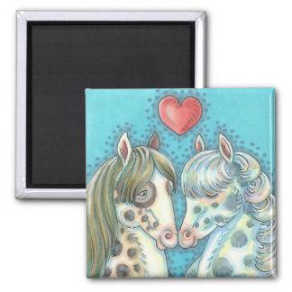 Stablematespinto-Ponys PFERDEmagnet Quadrat Quadratischer Magnet