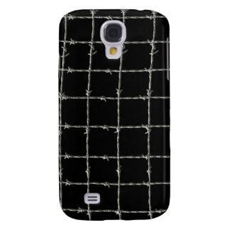 Stacheldraht auf Schwarzem Galaxy S4 Hülle