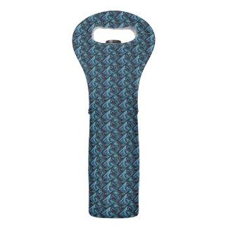 Stachelige blaue Sharkfin Wein-Tasche Weintasche