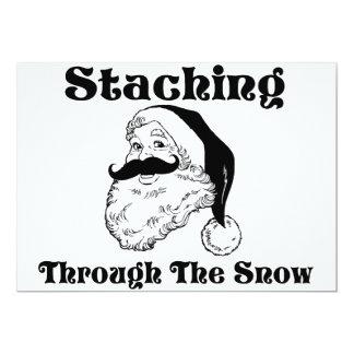 Staching durch den Schnee Sankt Karte
