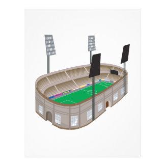 Stade de football prospectus en couleur