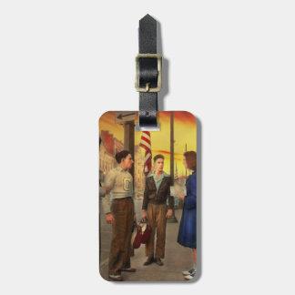 Stadt - Amsterdam NY - die Bowlingskerbe 1941 Gepäckanhänger