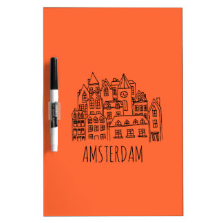 Stadt-Andenken-Orange Amsterdams niederländische Whiteboard