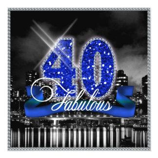Stadt beleuchtet fabelhafte vierzig ID191 Karte