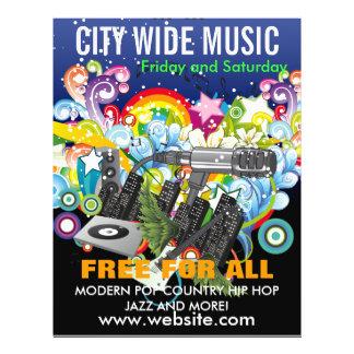 Stadt-breiter Musik-Flyer
