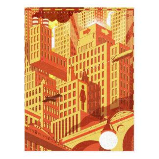 Stadt-Brücke Postkarte