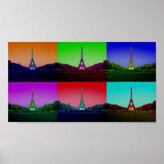 Stadt des Technicolor-Liebe-Plakats Poster