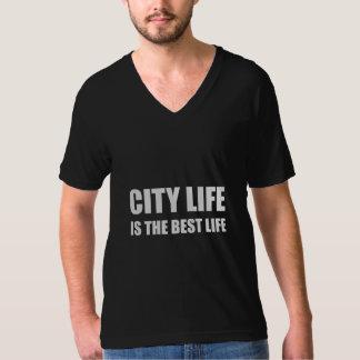 Stadt-Leben-bestes Leben T-Shirt