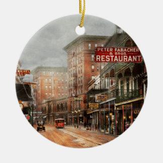 Stadt - New Orleans - ein Blick auf St- Keramik Ornament