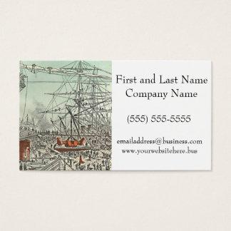 Stadt-Segelschiff-Werft Jules Feratt sich hin- und Visitenkarte