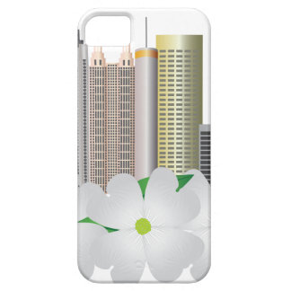 Stadt-Skyline Atlantas Georgia mit Hartriegel iPhone 5 Etui