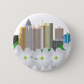 Stadt-Skyline Atlantas Georgia mit Hartriegel Runder Button 5,7 Cm